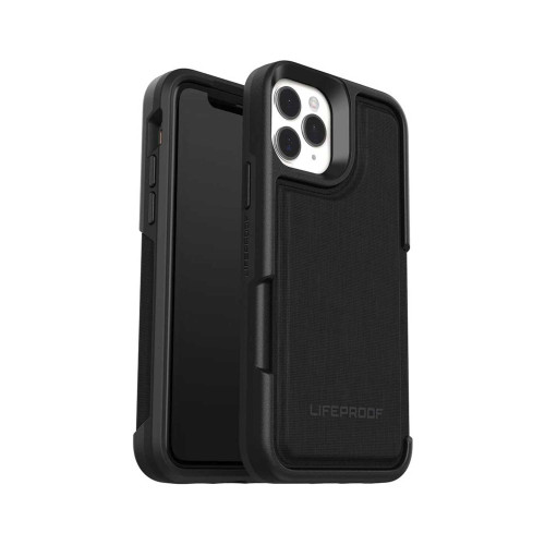 Lifeproof Leather Flip Wallet Case for iPhone 11 Pro - Dark Knight
