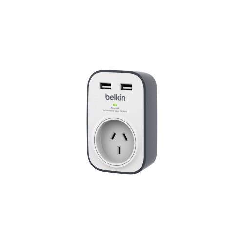 Belkin Surgecube 1-Outlet 2 USB Port Surge Protector