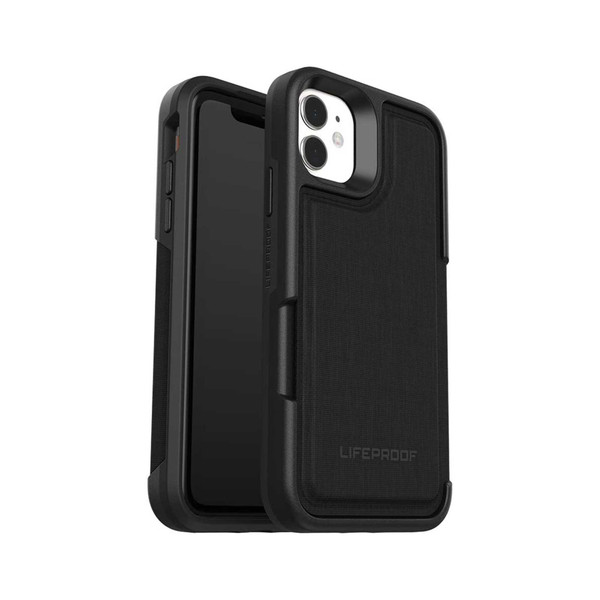 Lifeproof Leather Flip Wallet Case for iPhone 11 - Dark Knight