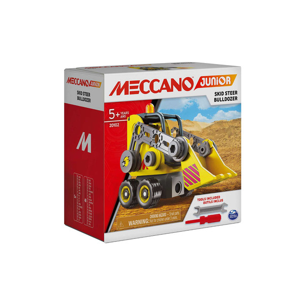 Meccano Junior Skid Steer Bulldozer Vehicle Building Kit