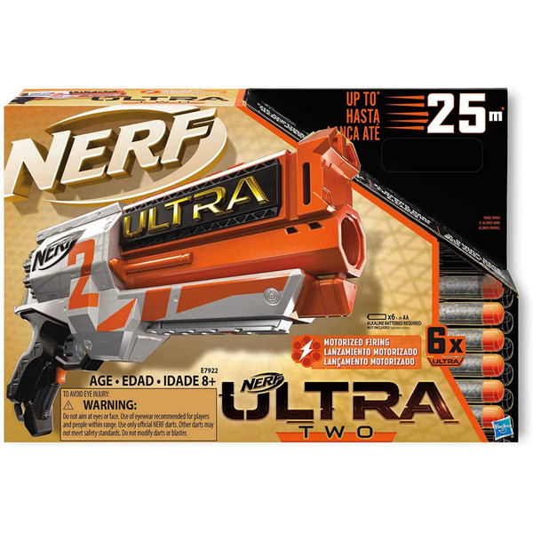 Nerf Ultra 2 Motorized Blaster Fast-Back Reloading Age 8+