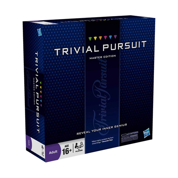 Trivial Pursuit Master Edition 2+ Players Age 16+