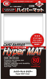 【66×91mm】KMC Clear Mat Sleeves  80 Sheets