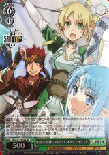 Yui & Klein & Leafa & Asuna, Aim for the Holy Sword SAO/S71-039S SR