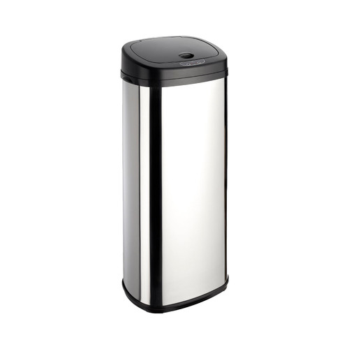 Chrome 50L Rectangle Onyx Sensor Bin