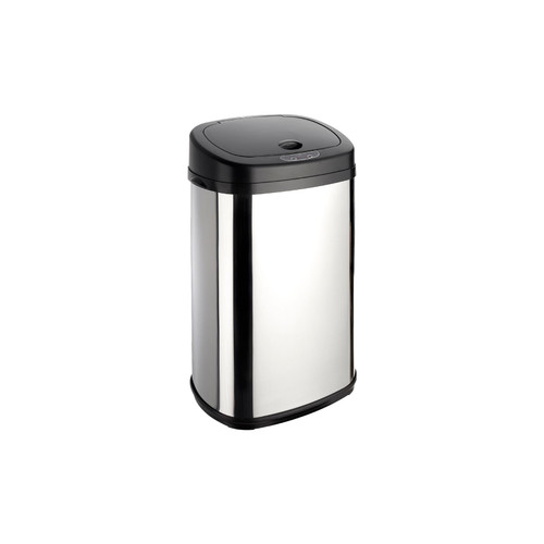 Chrome 30L Rectangle Onyx Sensor Bin