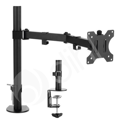 "Single Arm Desk Monitor Mount for Screens 13""-27"""