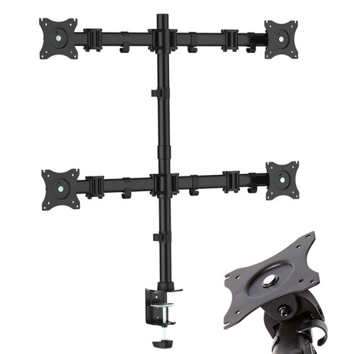 "Quad Arm Desk Mount for Screens 13""-27"""