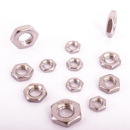 Thin Hexagon Hex Nuts A2 Stainless Steel DIN439 for Bolts Screws