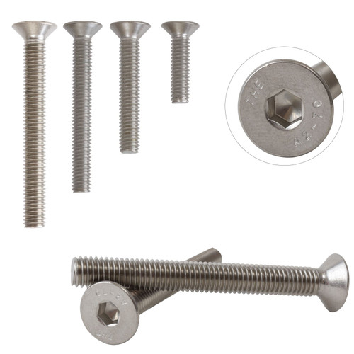 A2 Stainless Steel Countersunk Hexagon Socket Bolts Screws M5 DIN7991