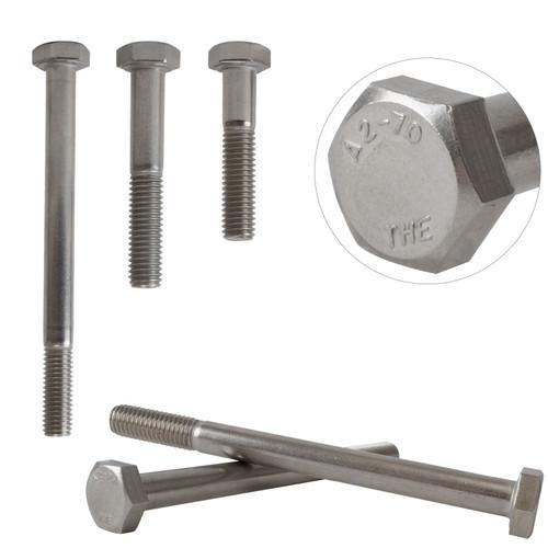 Part Threaded A2 Stainless Steel Hex Bolts Screws Hexagon Head M10 DIN931
