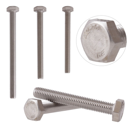 Fully Threaded A2 Stainless Steel Hex Bolts Screws Hexagon Head M12 DIN933
