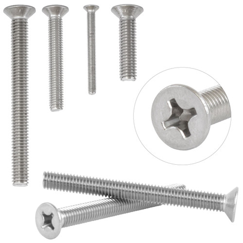 Countersunk M3 Machine Screws A2 Stainless Steel Phillips Head Bolts