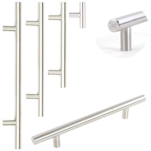 Brushed Steel T-Bar Handles 4 Sizes
