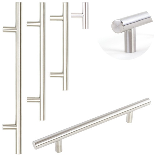 Brushed Steel T-Bar Handles 4 Sizes