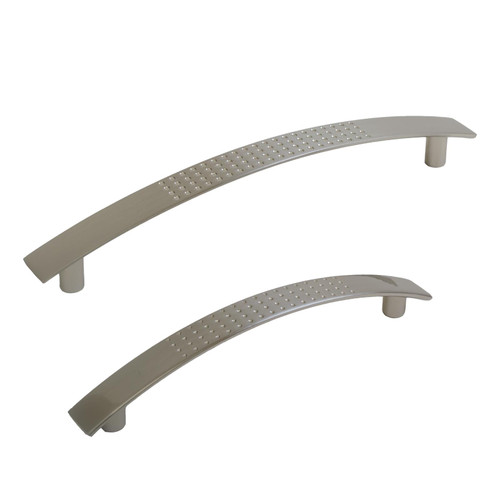 Satin Bowed Dimple Kitchen Furniture Handles