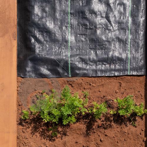 4m X 20m Heavy Duty Weed Membrane Fabric Landscape Garden Control