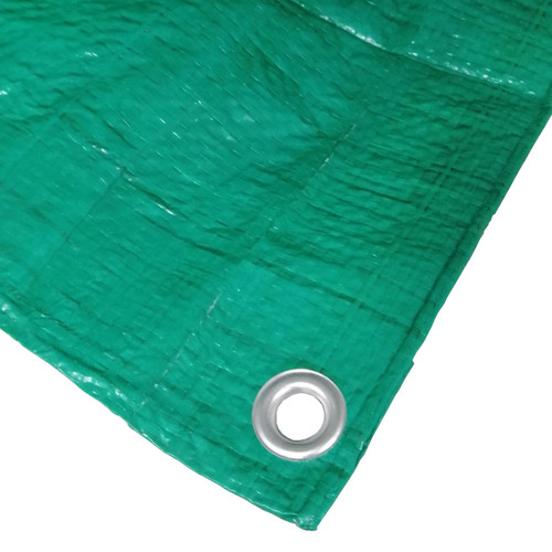 12' x 10' Lightweight Green Tarpaulin Groundsheet Garden Cover