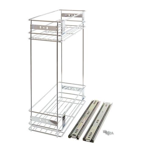 200mm Pull Out Wire Basket Kitchen Larder Base Unit Cupboard Drawer Storage