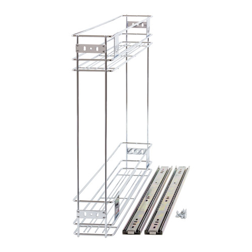 150mm Pull Out Wire Basket Kitchen Larder Base Unit Cupboard Drawer Storage