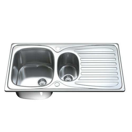 1501 1.5 Bowl Kitchen Sink with Waste