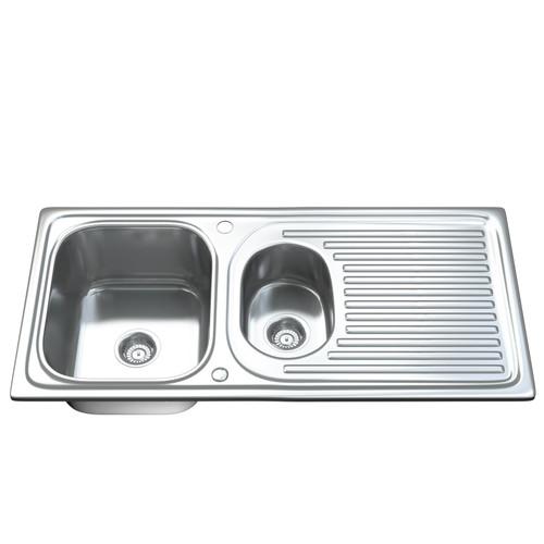 1502 1.5 Bowl Kitchen Sink with Waste