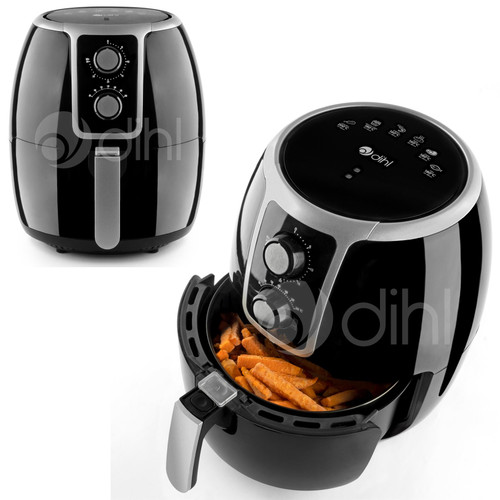Dihl 3.7L Air Fryer Black Rapid Healthy Cooker Oven Low Fat Free Food Frying