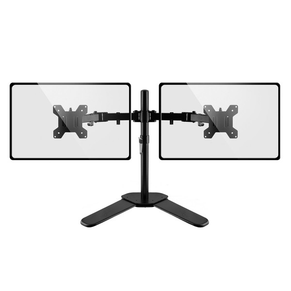 """Double Arm Desk Stand for 13"""" - 27"""" Monitors"""
