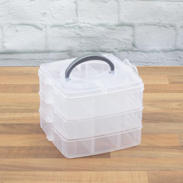 Small 3 Tier 18 Compartment Case Tool Box