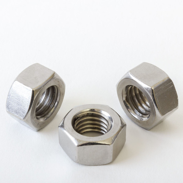 Hexagon Full Nut Standard Pitch A2 Stainless Steel M3 M4 M5 M6 M8 M10 M12 DIN934