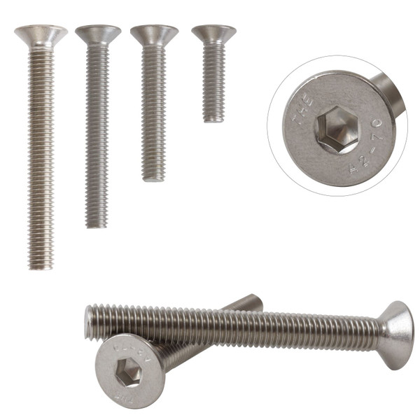 A2 Stainless Steel Countersunk Hexagon Socket Bolts Screws M8 DIN7991