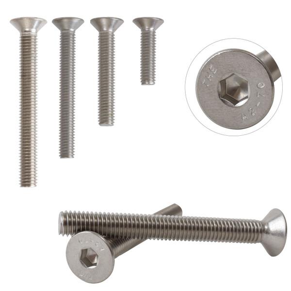 A2 Stainless Steel Countersunk Hexagon Socket Bolts Screws M6 DIN7991