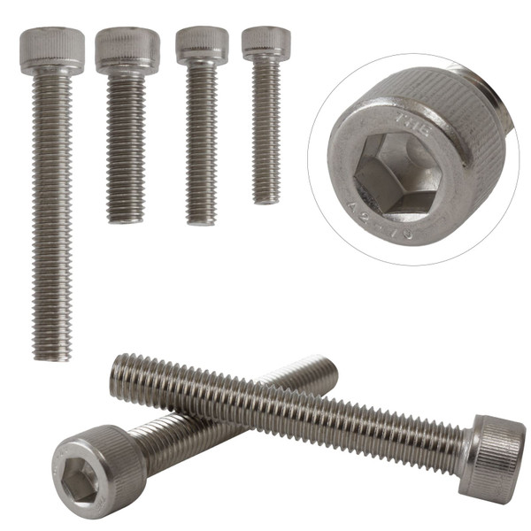 A2 Stainless Steel Hexagon Socket Head Cap Bolts Screws M10 DIN912