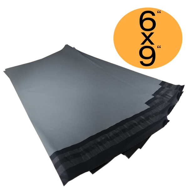 Grey Mailing Bags 6x9 50% Recycled Plastic Material Self Seal Strong Postal Poly