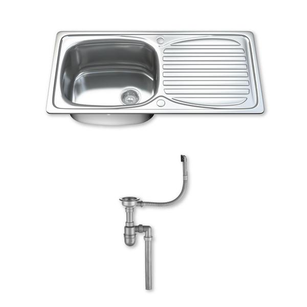 1002 Single Bowl Kitchen Sink with Waste