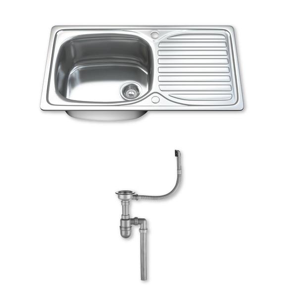 1004 Single Bowl Kitchen Sink with Waste