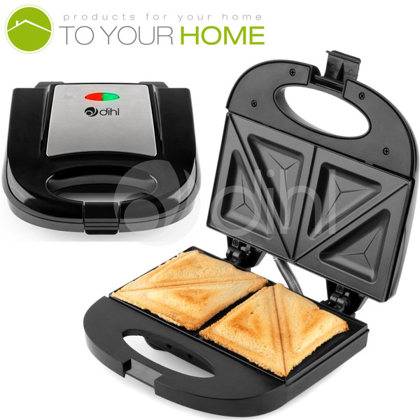 Dihl - Double Sandwich Toastie Maker Grill Toaster Cool Touch Press
