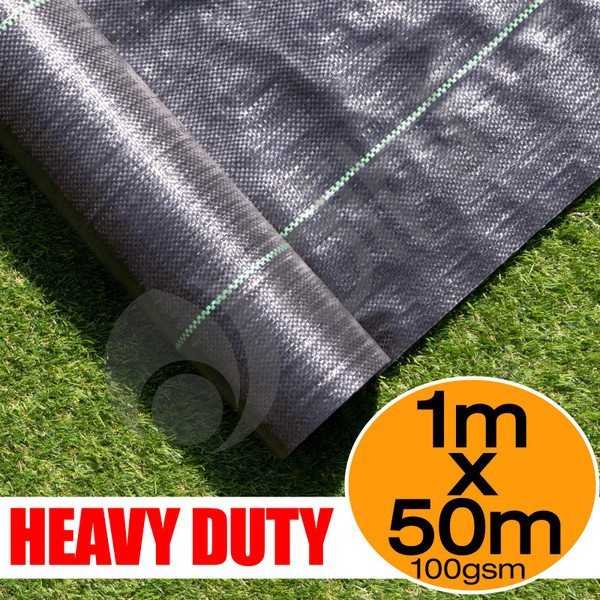 1m X 50m Ground Cover Fabric Landscape Garden Weed Control Membrane Heavy Duty