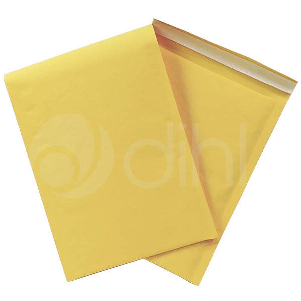 200 x D1 180mm x 260mm Dihl GOLD YELLOW PADDED BUBBLE ENVELOPES BAGS
