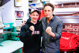CBC's show Still Standing with host Jonny Harris comes to Schreiber and visits Domenic at Hollywood Filane