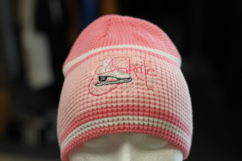 Skate Waffle knit beanie toque Pink