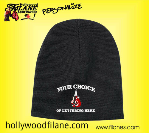 Personalized Boxing custom logo beanie toque