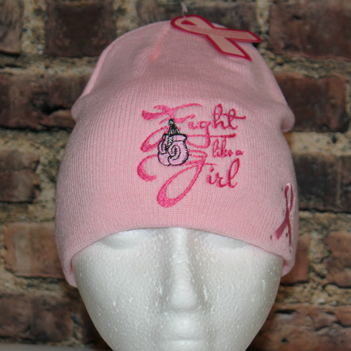 Fight like a Girl - cancer awareness beanie style toque