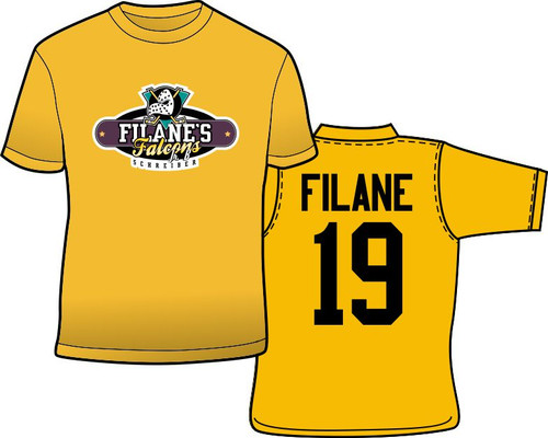 Filane's Falcons Jr B. Hockey T-Shirt - Personalize it with your name and number.