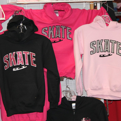 Skate GLITTER Hooded Sweatshirt