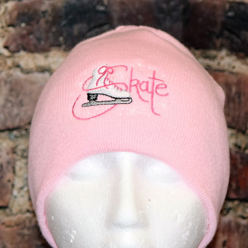 Figure Skating Skate PINK Beanie Toque