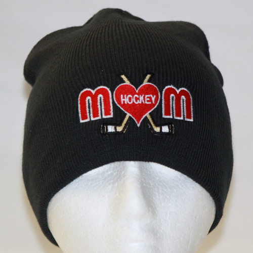 Hockey Mom Black Beanie Toque