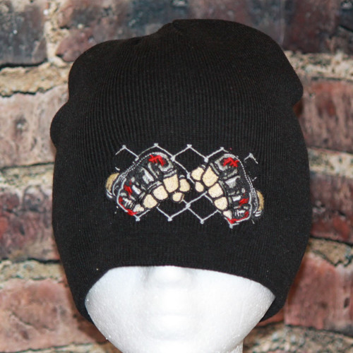 MMA Cage fighter Beanie Knit skull cap
