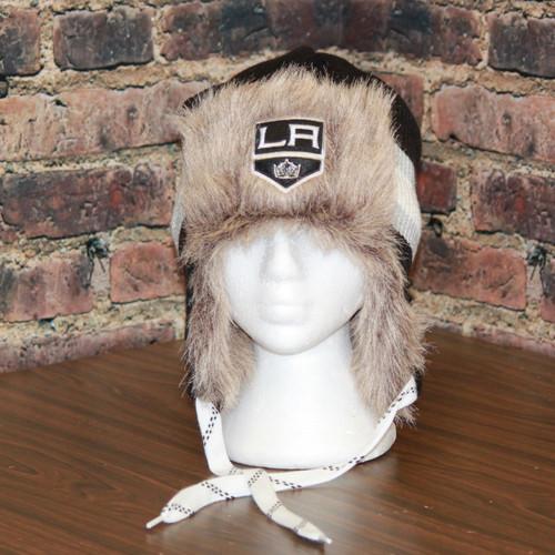 Los Angeles LA Kings Reebok NHL Center Ice FUR TROOPER Knit Hat