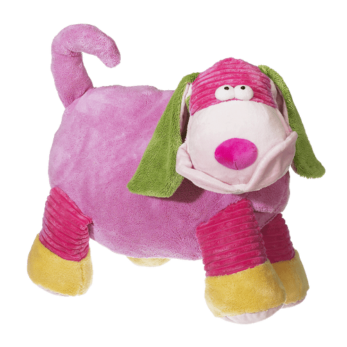 Mister Pauley Puppy Layabout - Pink 19 inch Embroider buddy